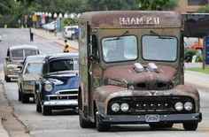 hot rod photography | 2013_hot_rod_power_tour_cars_on_the_road_trip_lineup_rat_rod_mail ...