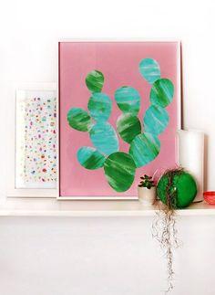Paint your own cactus artwork