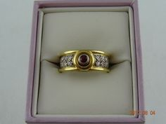 Gold Pre Loved 18ct Solid Yellow & White Gold Ruby & 12Diamond Ring 8.3grms (eBay item 320957817237 end time 12-Aug-12 19:15:04 AEST) : Jewellery Watches