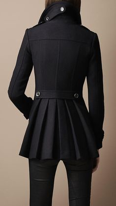Burberry's Back Pleat Military Coat - love this!!!!!