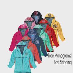 Monogrammed Rain Jacket-Price Includes 2 by JustForMeSewing