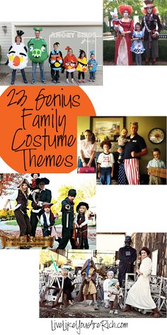 23 Genius Family Costume Themes—these are so awesome! #LiveLikeYouAreRich