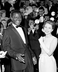 Sidney Poitier and Jean Seberg at Cannes, 1961