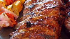 Chinese style pork driblets are glazed in a sweet and spicy sauce that tastes great on chicken and wings too.