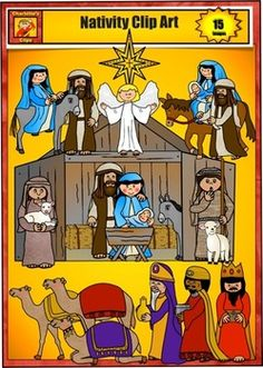 Free Nativity Clip Art by Charlotte's Clips