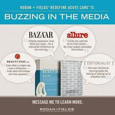 Nellie & Phoeb's: Rodan and Fields Acute Care buzzing in the media! Bazaar, Allure...