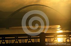 Sunrise in Pittsburgh, Pennsylvania