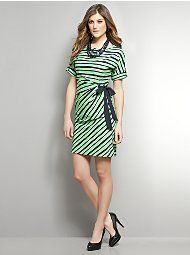 Green/navy dress from New York & Co.
