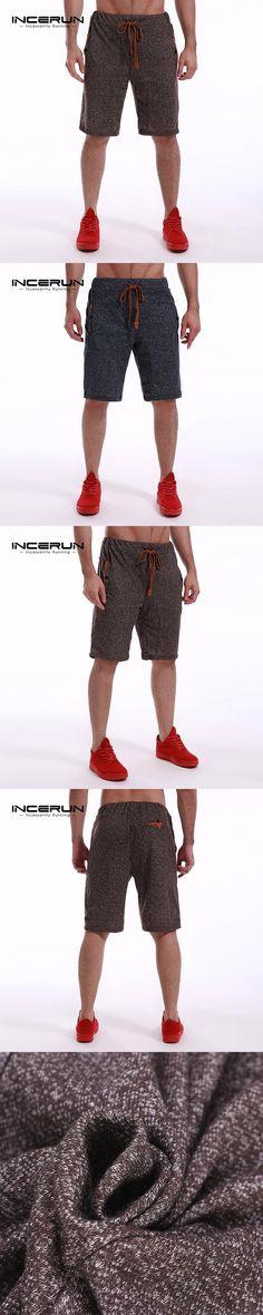 INCERUN Men's Fleece Shorts 2017 Summer Bermuda Shorts Casual Joggers Solid Plain Men Short Sweatpants Trousers Male shorts