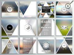 Set of 48 square brochures by VectorShop on @creativemarket