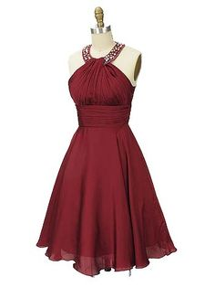 This burgundy party dress with jeweled neckline would be perfect for a cocktail soiree or make a great bridesmaid dress! Now on clearance for only 44.86! #cocktaildresses #bluevelvetvintage #bridesmaiddresses