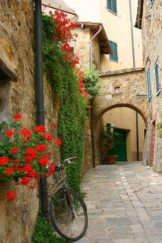 Montepulciano, Italy | Tuscany | photo by dangers.  Would love to visit with my little amiche del cuore, Lorraine.