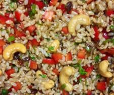 Recipe The Best Oriental Brown Rice Salad by jezzymoo, learn to make this recipe easily in your kitchen machine and discover other Thermomix recipes in Side dishes. Best Rice Salad Recipe, Rice Salad Recipes, Brown Rice Recipes, Vegetable Sides, Vegetable Salad, Rice Dishes, Food Dishes, Dishes Recipes, Brown Rice Cooking