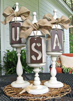 4th of July Apothecary Jars via Uncommon Designs