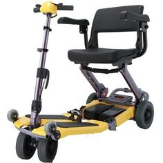 Mobility Scooters Luggie Mobility Scooter Suitcase: (No), Color: Yellow, Arm Rests: (No) <3 This is an Amazon Associate's Pin. Click the VISIT button to enter the Amazon website.