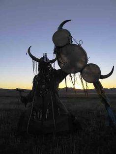 Buryat shaman of Siberia in ritual dance.  http://streetshamans.com