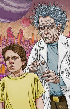 """quasilucid: """" 31 Days of Halloween 2015 Day """"It's just Rick and Morty! Ru-ick and Morty and their adventures, Morty! Rick and Morty forever and forever, 100 years, Rick and Morty's things! Geek Culture, Pop Culture, Digital Foto, Fantasy Character, Bttf, Psy Art, Comic Art, Geek Stuff, 80s Stuff"""
