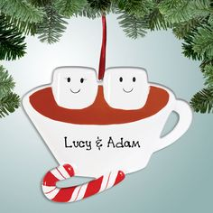 PersonalizedFree.com - Hot Chocolate Couple Personalized Christmas Ornament, $12.99 (http://personalizedfree.com/hot-chocolate-couple/)