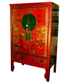 Oriental Furnishings - Chinese Antique Wedding Chest With Landscape Hand Painting, $2,248.00 (https://www.orientalfurnishings.com/chinese-antique-wedding-chest-with-landscape-hand-painting/)