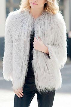 Ultra-Glam Faux Fur Jacket - main