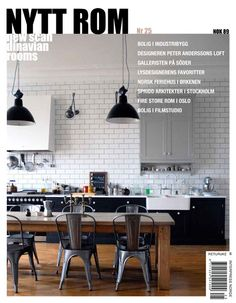 Nytt Rom #25 Interior Design Kitchen, Interior Decorating, Kitchen Dining, Dining Room, Concrete Wood, Eclectic Design, Home Furniture, Sweet Home, Magazines