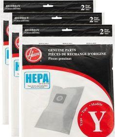 Hoover Type Y HEPA Bag (6-Pack), AH10040