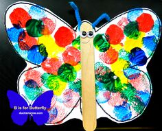 B is for Butterfly craft for preschool and kindergarten #kidscrafts