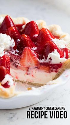 Pie This homemade strawberry pie is made with a flaky crust, cheesecake filling and bursting with fresh strawberries.This homemade strawberry pie is made with a flaky crust, cheesecake filling and bursting with fresh strawberries. Spring Desserts, Easy Desserts, Delicious Desserts, Yummy Food, Christmas Desserts, Tasty, Fresh Strawberry Pie, Strawberry Pie Recipes, Strawberry Cream Cheese Pie
