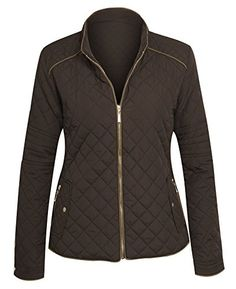3a1ee9b6c1f Womens Zip Front Lightweight Quilted Zip Jacket * To view further for this  item, visit