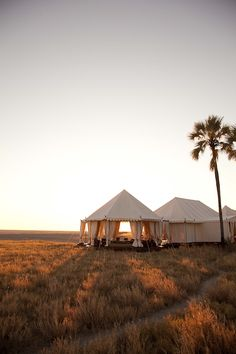 glamping - San Camp, Botswana...one of the most romantic camps in Africa