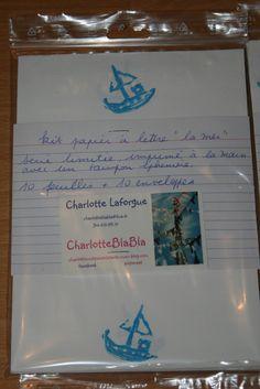 kit papier a lettre bateau