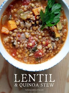 vegan lentil and quinoa stew