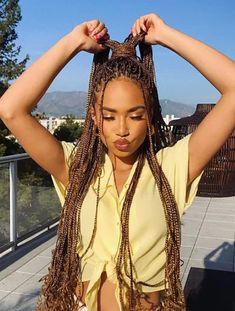 Cute Box Braids Hairstyles, Box Braids Hairstyles For Black Women, Braids Hairstyles Pictures, African Braids Hairstyles, Hair Pictures, Box Braids Pictures, Braids For Black Women, Blonde Box Braids, Braids With Curls