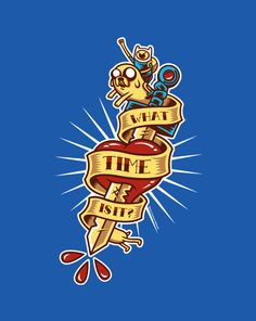 Adventure Tattoo T-Shirt   $10 Adventure Time tee from ShirtPunch today only!
