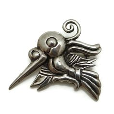 1940's William Spratling Taxco Mexico Sterling Silver Hummingbird Pin..