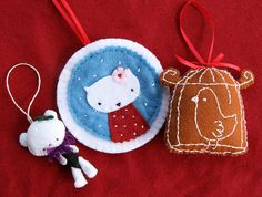 Christmas Ornaments for Trim The Tree Swap by Three Honeybees, via Flickr