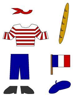 Paper doll Frankrijk 1