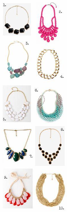 budget friendly // statement necklaces.
