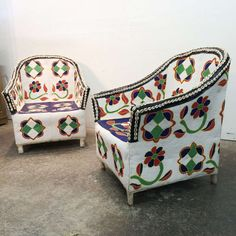 African Beaded Chairs from Nigeria | From a unique collection of antique and modern armchairs at http://www.1stdibs.com/furniture/seating/armchairs/