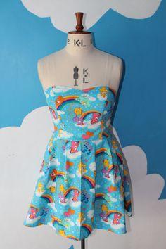 care bears sweet heart dress  all sizes by vampirebunnies on Etsy, £45.00