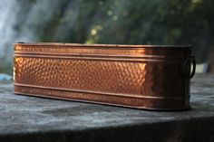 Vintage Italian Solid Copper Planter, with rolled top & brass handles by FarmGateVintage on Etsy