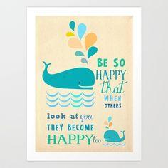 Be so happy Art Print by Elisandra  - $15.60