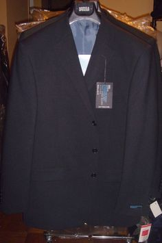 Marks & Spencer Navy Blue Blazer Machine Wash Size 42 M 3 Button Jacket New Tags #MarksSpencer #ThreeButton