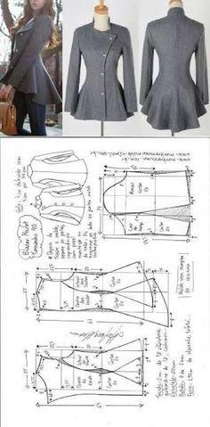 pinterest casacos e pelerine com molde ile ilgili görsel sonucu