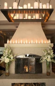 Candle lit decorations for an elegant wedding at Park Hyatt Beaver Creek Resort & Spa.