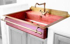 Restart - Lavello semincasso in rame brunito Lavelli cucina - Lavelli in acciaio inox