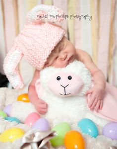 My baby is due 10 days before Easter......Newborn Pic Idea :)