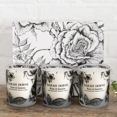 Expertly composed using Sarah's knowledge of botanical fragrances, this natural scented candle is blended to indulge the body and soothe the senses. 3 Wick Candles, Scented Candles, Classic Candles, Candle Packaging, Glass Votive, Candels, Product Packaging, Handmade Candles, Black And White Colour