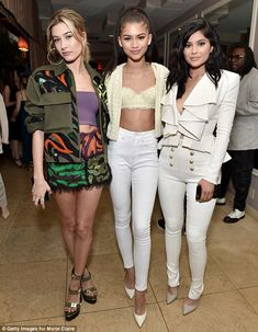 Kylie Jenner attends Marie Claire party in Hollywood in nothing but a velvet blazer   Daily Mail Online
