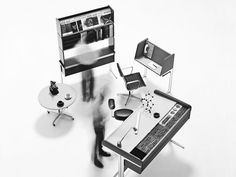 The Cubicle You Call Hell Was Designed to Set You Free | A promotional image for Action Office I's debut in 1964. <em>Courtesy of Herman Miller</em> | Credit:  | From Wired.com